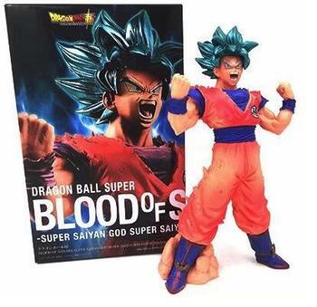 Anime Dragon Ball Z Super Blood of Saiyans God Son Gokou Figure Model Collection Toys 18cm