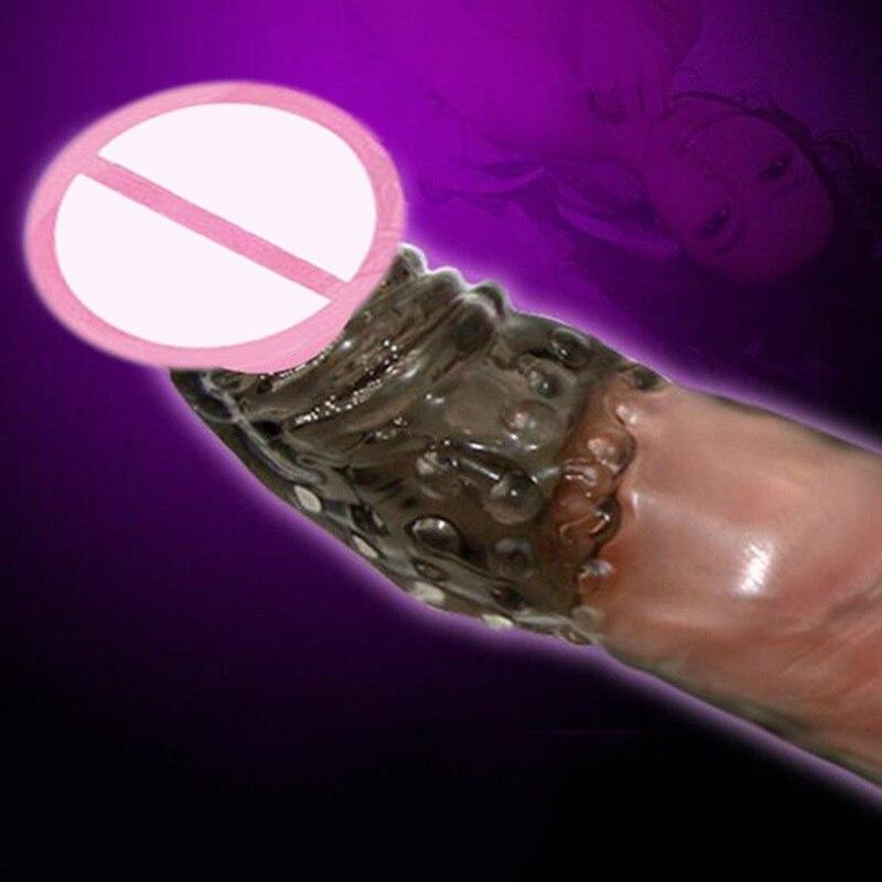 Manches de pénis en Silicone souple réutilisable manchon d'extension de préservatif manchon d'extension solide tête étendre préservatif jouets Sexy pour hommes