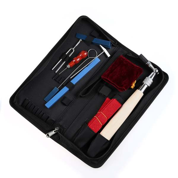 2 PCS of (10Pcs Professional Piano Tuning Tool Kit Maintenance Equip with Case)