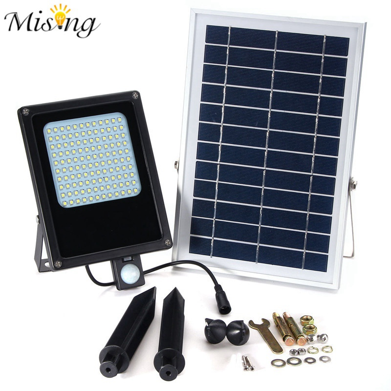 Mising Waterproof 150 LED Solar Light Outdoor LED Floodlight Garden Light 3528 SMD Security Motion Sensor Emergency White Light ultrathin led flood light 200w ac85 265v waterproof ip65 floodlight spotlight outdoor lighting free shipping