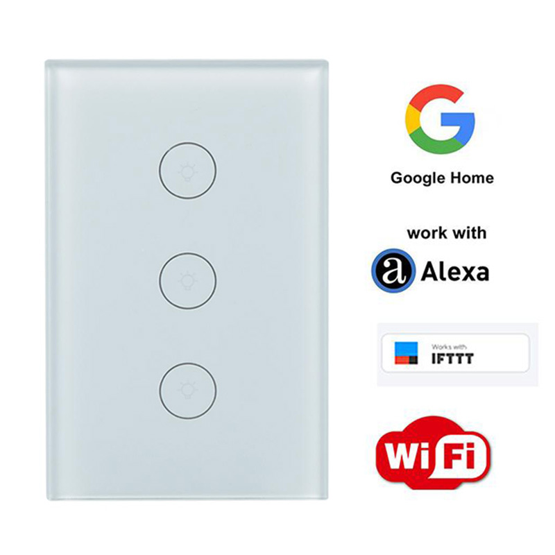 WiFi Smart Switch Remote Control APP Work with Amazon Alexa Google Home Supported Timing 1 2 3 CH Gang Smart Light Wall Switch sonoff t1 us smart touch wall switch 1 2 3 gang wifi 315 rf app remote smart home works with amazon free ios and app ewelink