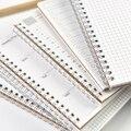 2017 Simple de La Vendimia Kraft Cuaderno Espiral Planificador Diario Semanal de Puntos de Cuadrícula En Blanco Libro de Gestión del Tiempo Planificador Útiles Escolares A5 A6
