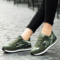 Hot Sales Men's Athletic Shoes Men Camo Outdoors Shoes Army Green Sneakers Boys' Running Breathable Sports Shoes