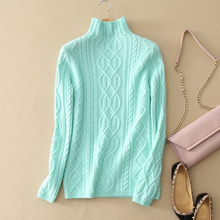100% cashmere warm pullovers turtle-neck long sleeve fitting solid color sweater thick winter and spring casual wear