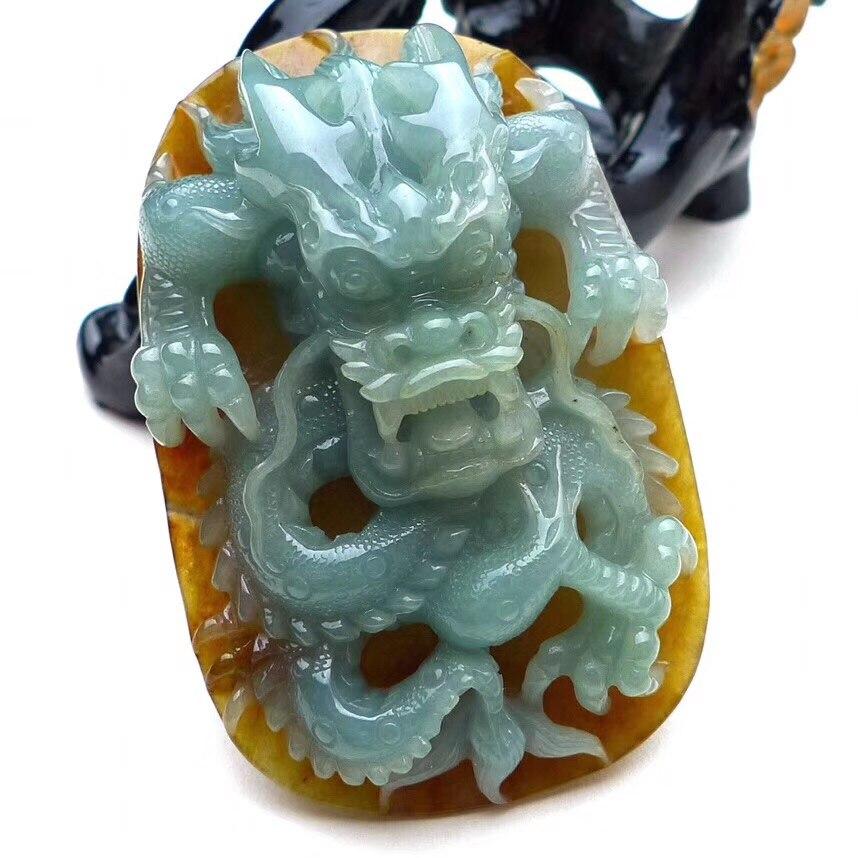 Unparteiisch Jade Ein Waren Gute Art Von Delicate Doppelte Farbe Geschnitzte Dominierenden Drachen Karte Anhänger Ep2905 # Herrenschuhe Flip-flops