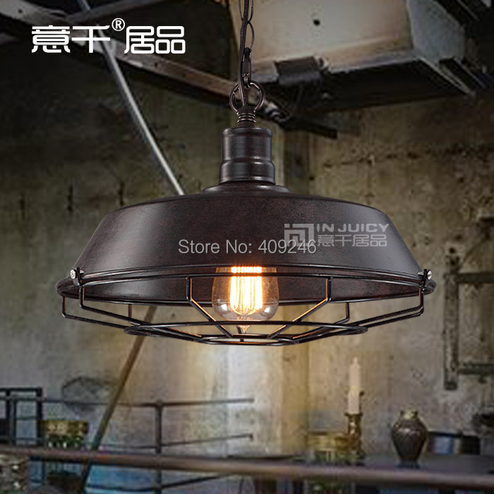 RH Loft Rural Industrial Vintage Pendant Lamp Restaurant Bar Lamp Cafe Lamp 36 cm Black/Rust Color Droplight rh led pendant lamp loft restaurant bar