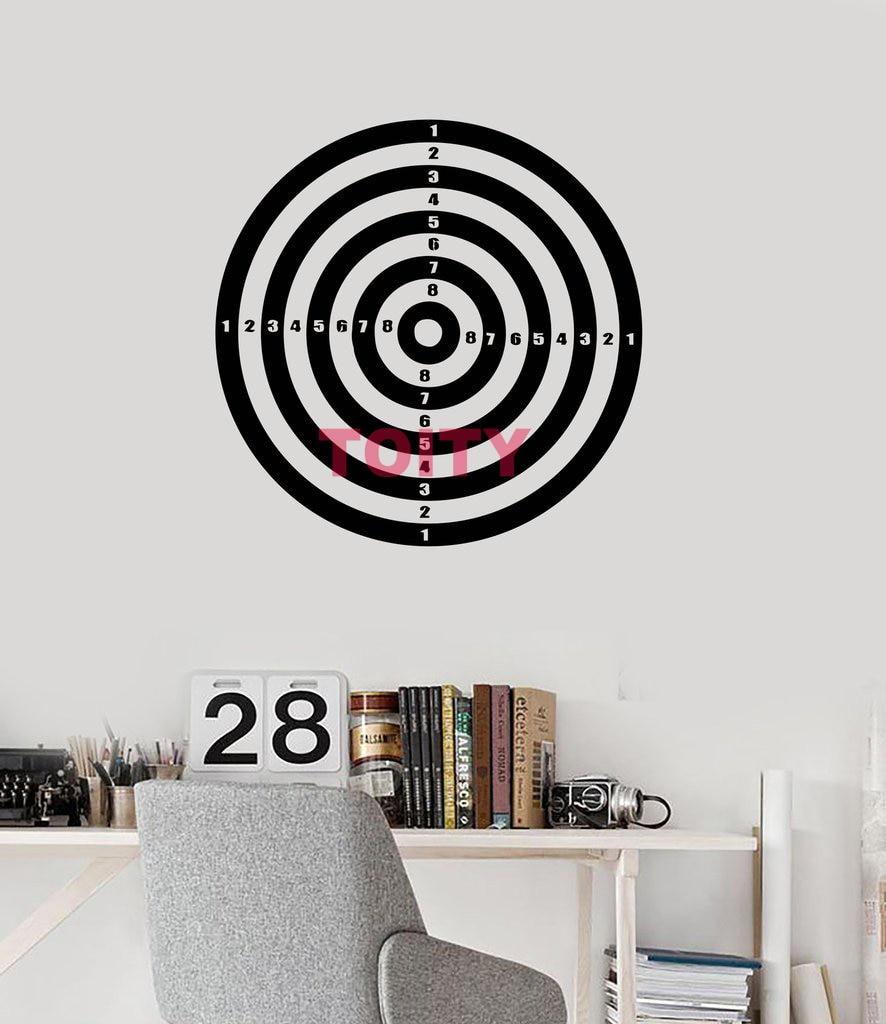dart board wall sticker dartboard art vinyl wall decor. Black Bedroom Furniture Sets. Home Design Ideas