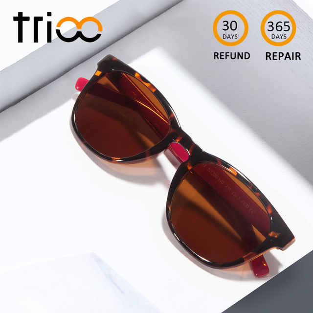 11b1509ade TRIOO Classic Tortoise Color Myopia Sun Glasses Women UV400 Prescription  Sunglasses Eyewear Brown Lens Oculos grau Eye glasses