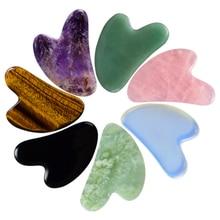Gouache Face Body Scraper Multiple materials Scraping Board Back Foot Guash Scratch Massager Crystal Stone Gua Sha Massage Tools