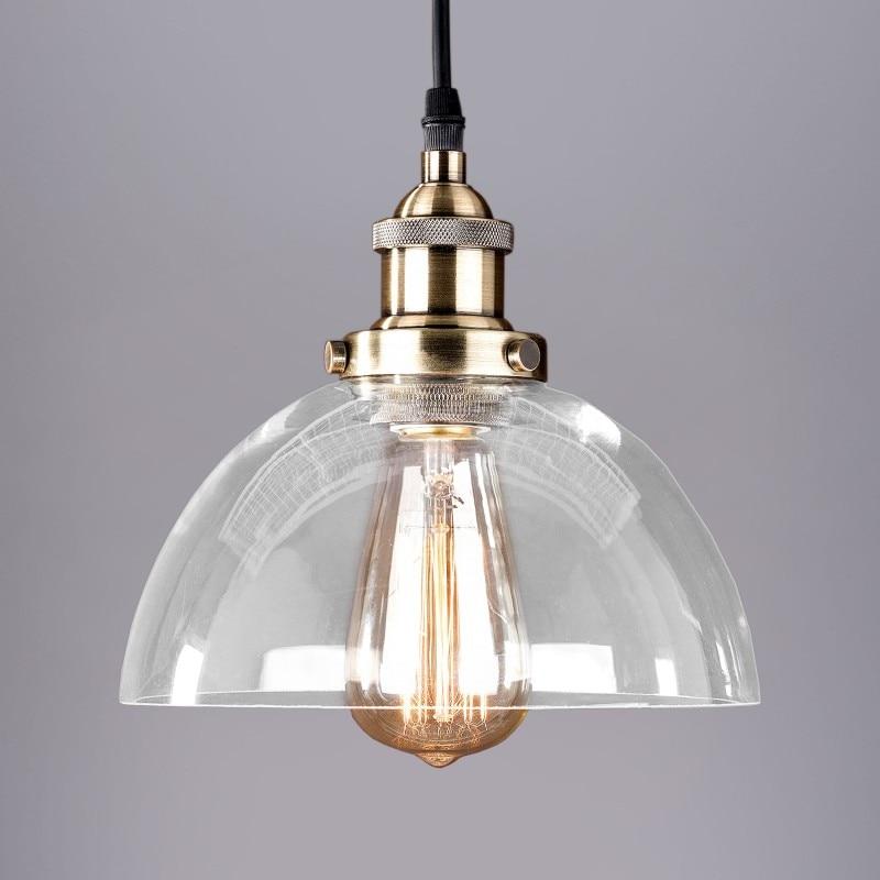 loft retro North Village Industrial glass pendant light living room bedroom bar dining room hanging lighting цена