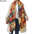 2016 Winter Scarf Graffiti Imitation Cashmere Scarf Women soft Printing all-Match Shawl Scarves Bandana Bufandas Cape SC1095