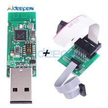 Wireless CC2531 CC2540 Zigbee Sniffer Board Bluetooth BLE 4.0 Dongle Capture Module USB Programmer Downloader Cable Connector ti cc2540 cc2541 ble usb dongle protocol analysis capture bluetooth 4 with shell