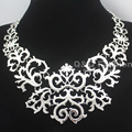 2017 New Victorian Filigree Charles Brighton Scroll Pendant Statement Link Chain Collar Bib Maxi Necklace Jewelry