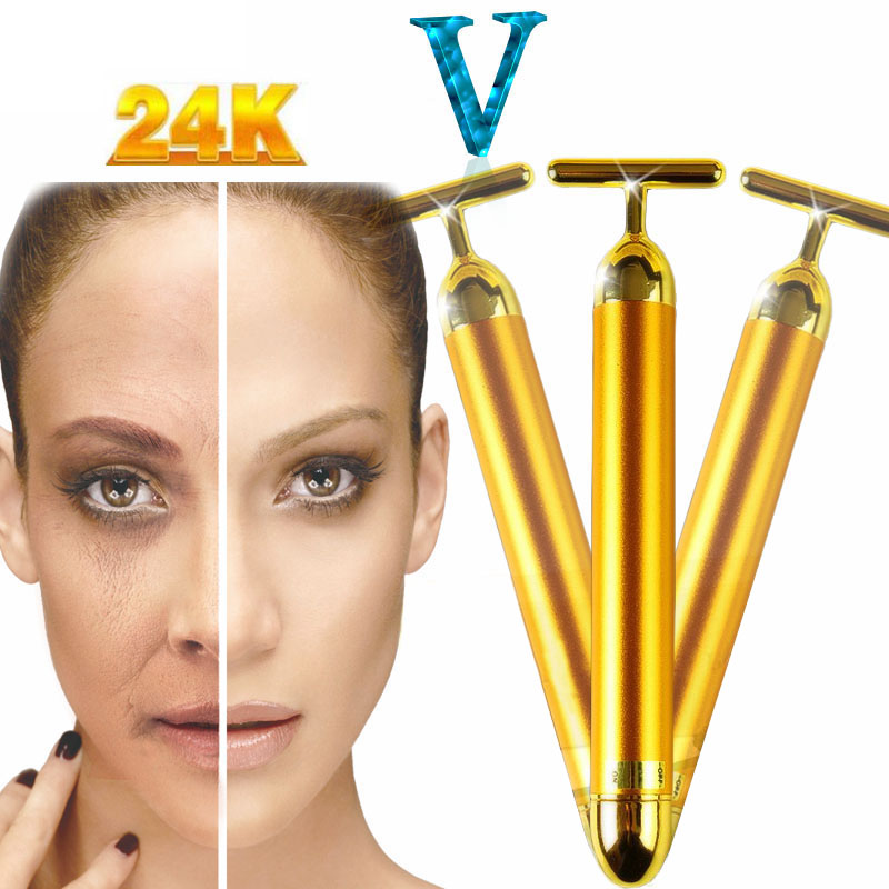 Slimming Face 24k Gold Vibration Firming Facial Beauty ...