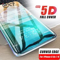 iONCT 5D borde curvado protector de cristal templado para el iPhone 7 6s 8 6 plus X XR XS 11 12 Pro MAX vidrio 9H protector pantalla iphone 6 7 8 Cubierta completa