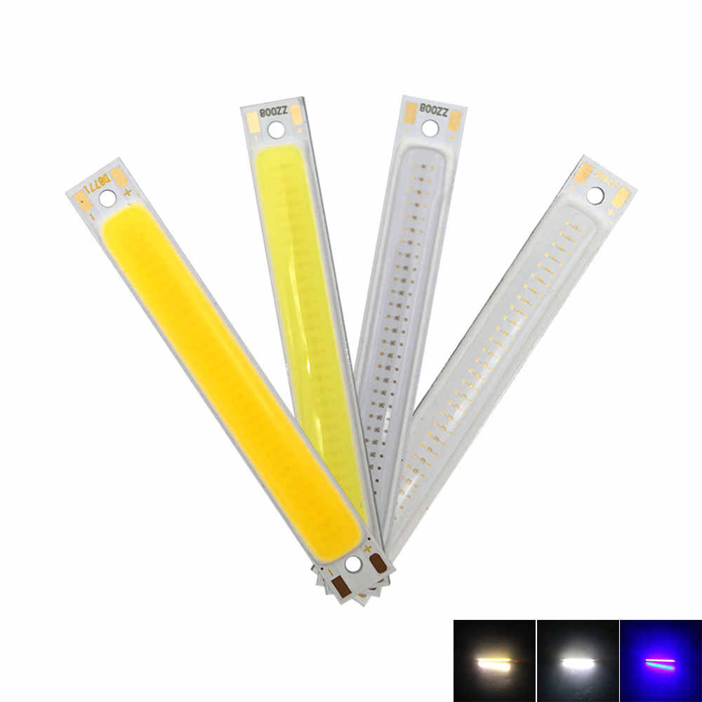 Battery Powered 1W 3W COB Bulb Kit 3.7V LED Light Source 60mm 2.36in Strip Bar LED Chip for Work Lamp Bike Boat Car Lights