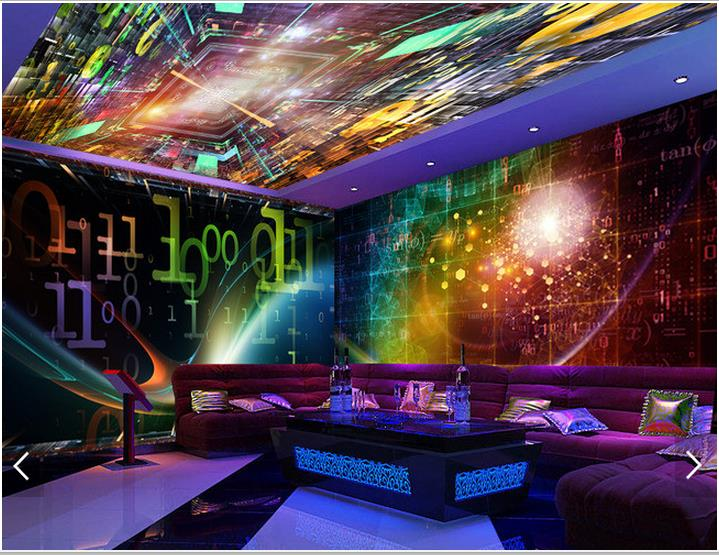 Customized 3d ceiling wallpaper mural 3d wallpaper cool for Cool mural wallpaper