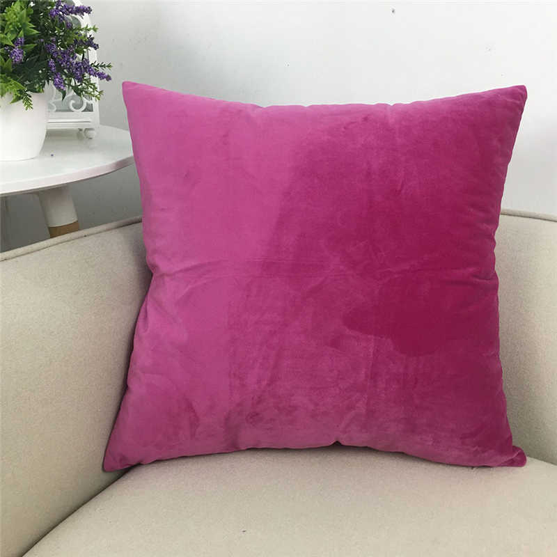 TENSKE Velvet Soft Cushion Cover Home Decor Solid Throw Pillow Case Bed Room Sofa Decor 60x60cm Cushion Cover Drop Ship March13