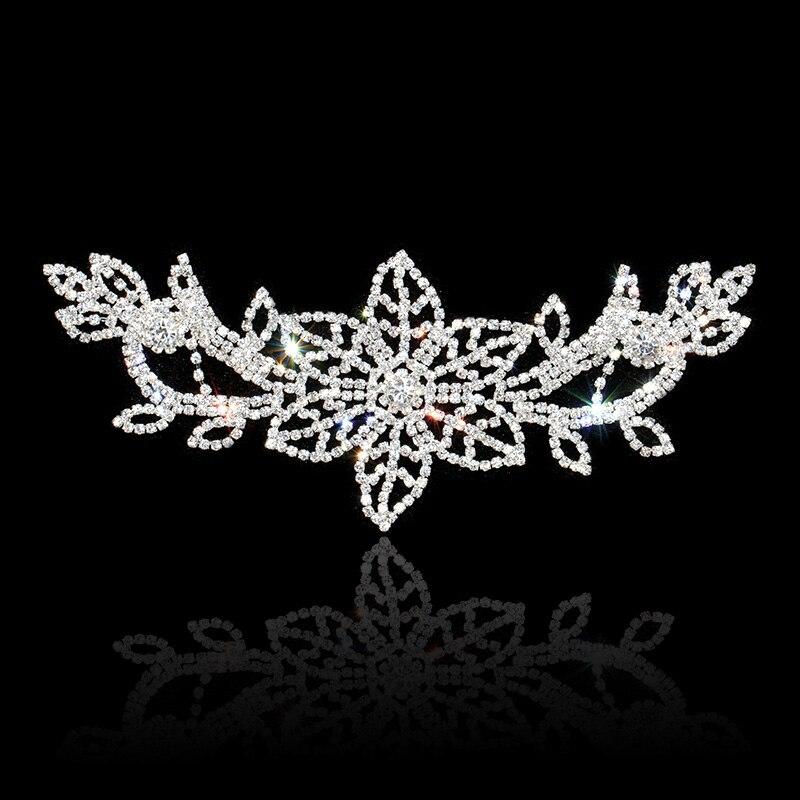 8,4 * 3,3 palce Crystal drahokamu aplikace pro svatební šaty Sash drahokamu lemování šití stříbrné zlato DIY řemesla