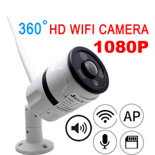 JIENU Wireless IP Camera Wifi 1080P Panoramic FishEye Home Security CCTV Camera 360 Degree Night Vision Support Audio Home Ipcam giantree 720p wifi 360 degree panoramic fisheye lens cctv cam home security ip camera webcam cctv security camera