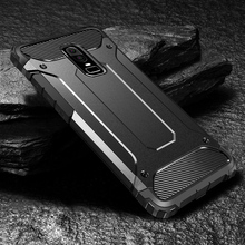 Robot Rugged Armor Case For OnePlus 6 5 Cases Hard PC Shockproof Covers Coque On the for One Plus 6 5 Bumper Funda Capa one robot