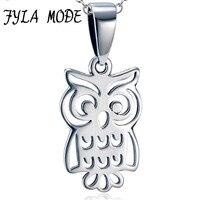 FYLA CHẾ ĐỘ New Retro Owl Pendant 925 Sterling Silver Necklace cho Phụ Nữ Cú Trắng Bạc Châu Âu Đồ Trang Sức Thời Trang