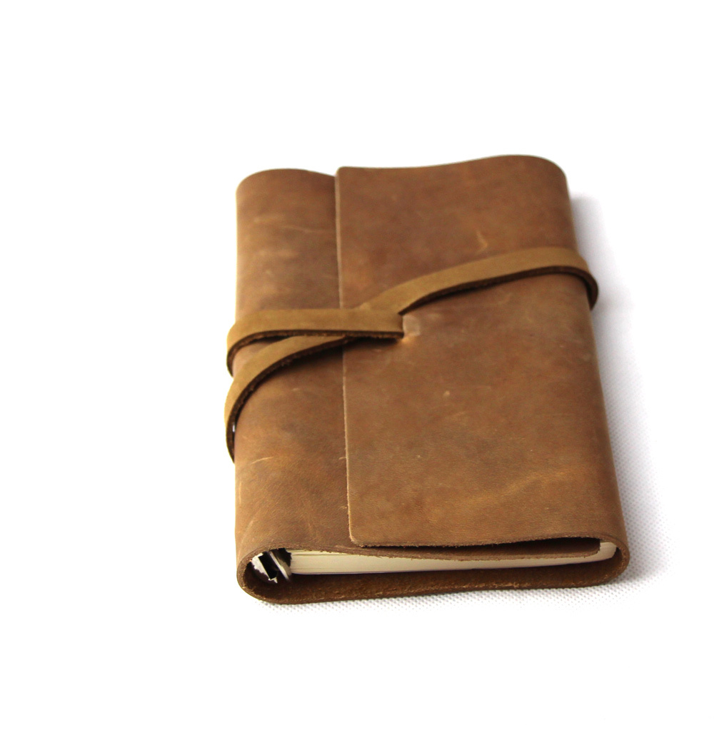 Korea stationery ultralarge thick leather notepad diary notebook RJ07