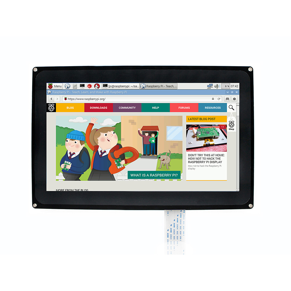 Image 4 - Raspberry Pi 3 Display 10.1 inch 1024x600 Capacitive Touch Screen LCD (H) with case,Support Multi mini PC,Windows 10/8.1/8/7/XP-in Demo Board from Computer & Office