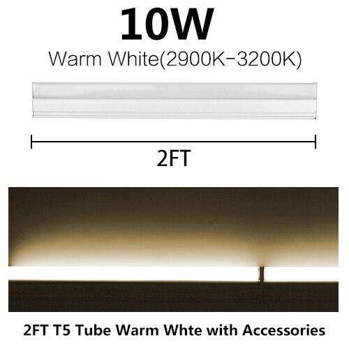 LED Tube T5 Fluorescent Bulb Light Integrated T8 Wall Lamp Lampada 30CM 60CM 1ft 2ft 6W 10W Cold Warm White 110V 220V 240V