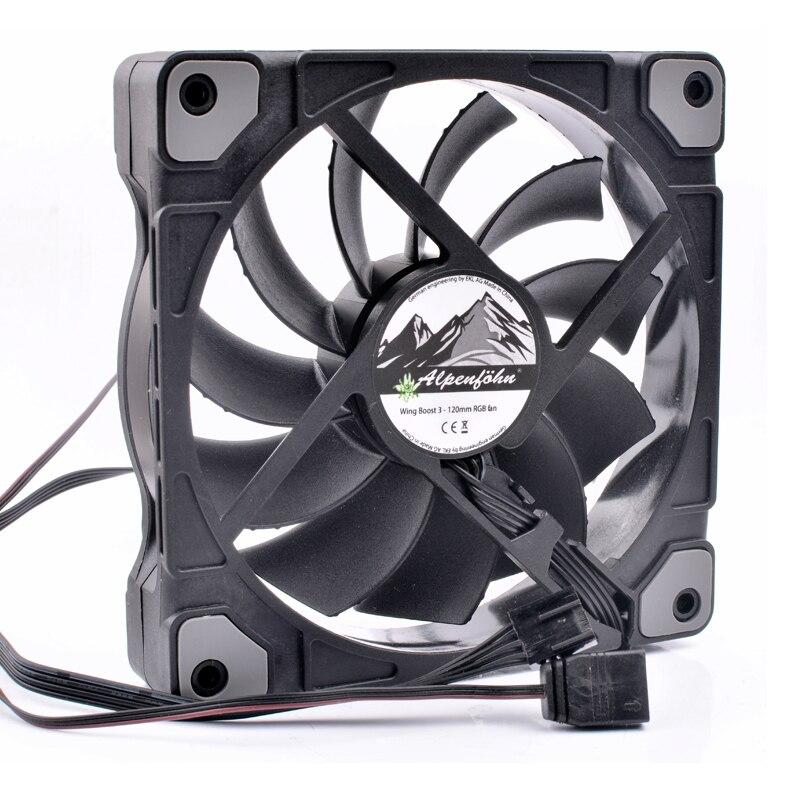 Alpenföhn Wing Boost3 120mm RGB fan 12cm 12025 120x120x25mm 12V 4 lines pwm CPU water cooled RGB cooling fan