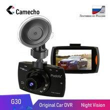 Camecho Автомобильный видеорегистратор камера 2,7 «G30 Full HD 1080 P 170 градусов Dashcam регистраторы ночного видения видео регистратор g-сенсор видеорегистратор DVRs