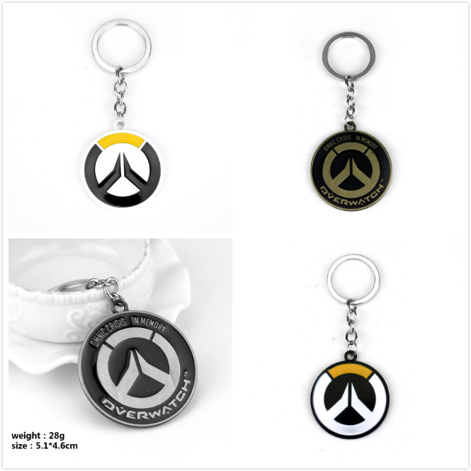 Hot Blizzard Games Overwatch LOGO symbols OW keychain