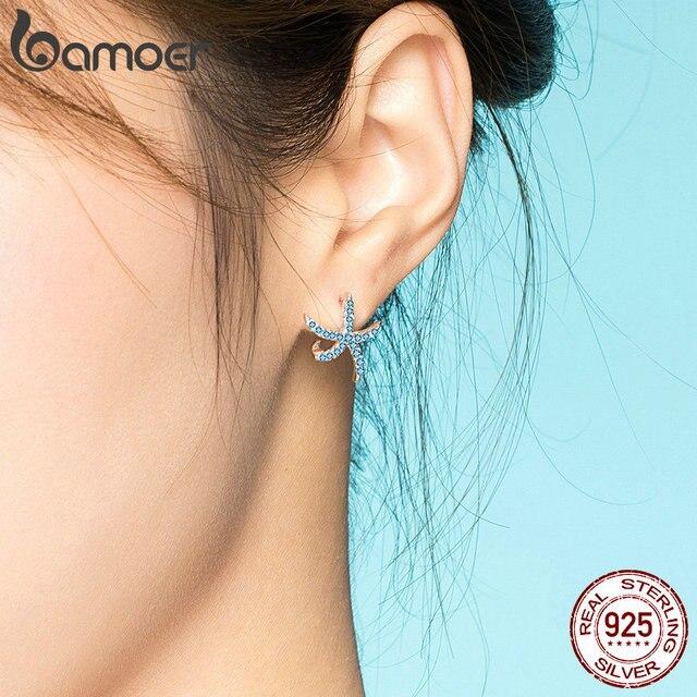 Bamoer Starfish Stud Earrings 925 Sterling Silver 4
