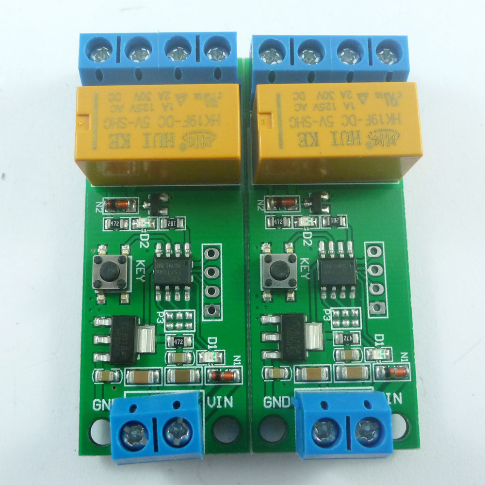 Integrated Circuits Active Components Faithful 2x 1-5000s Delay 0.1s Setp 5-12v Dc Motor Forward Reverse Time Controller Relay Module For Electric Trolley Toy Oxygen Fish Tank
