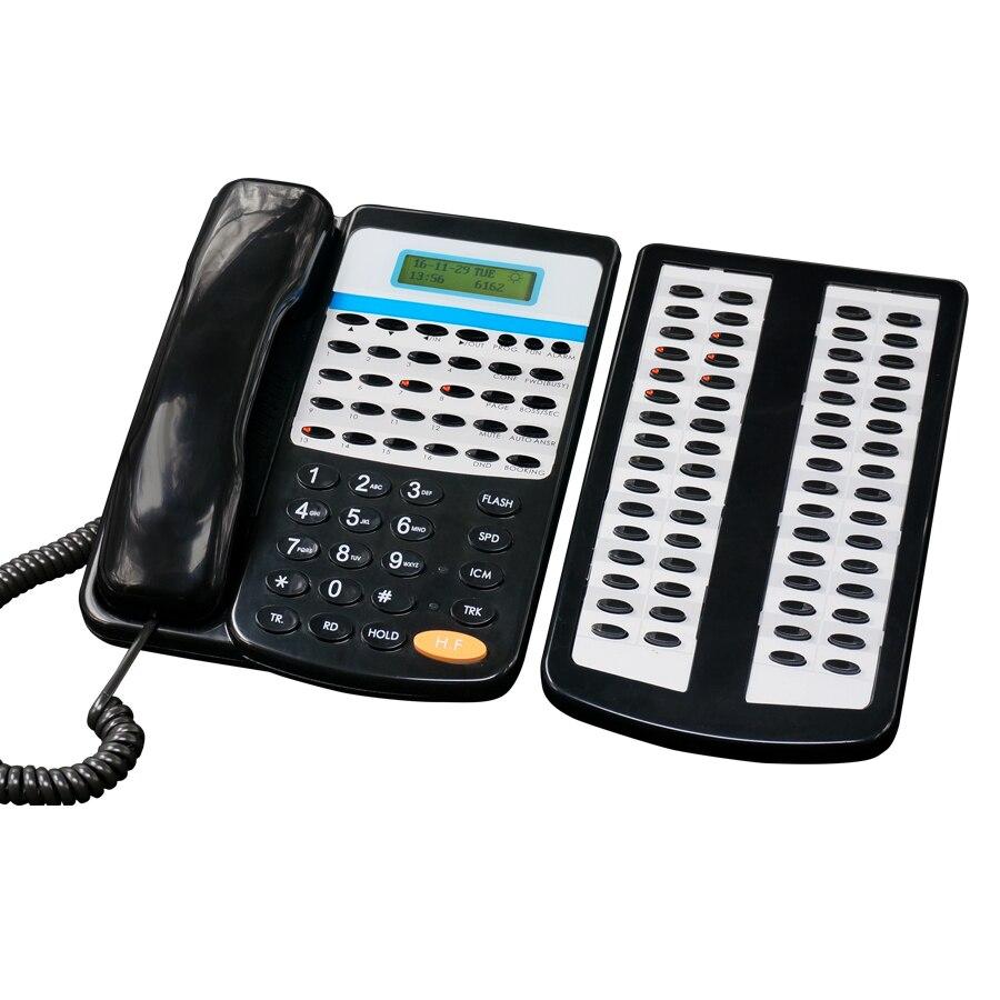 Excelltel PBX exclusive black keyphone PH202 with one DSS consoleExcelltel PBX exclusive black keyphone PH202 with one DSS console