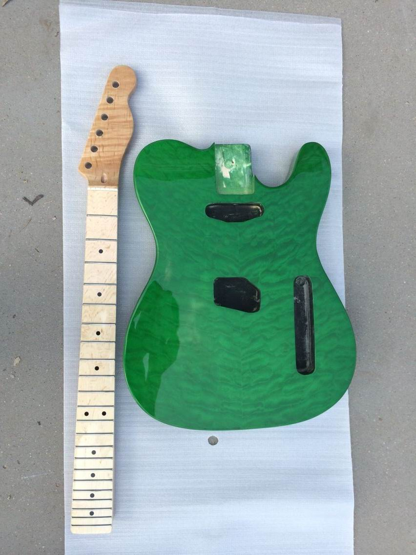 Wholesale New electric body /Neck for TEL  in Green Burst 140815 new arrival electric body for stra tocaster in flash black