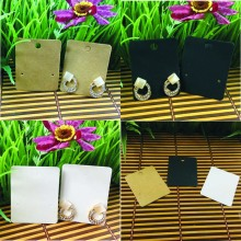 Hand Made Earring Card 5x4cm White /Black /Kraft Earring Card 1Pair Small Earring Custom Logo MOQ : 1000 pcs Logo Cost Extra