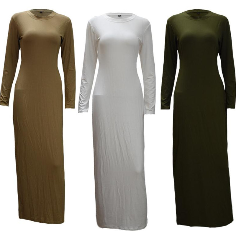 Abayas For Women Kaftan 2019 Underwear Cotton Long Islam Muslim Hijab Dress Abaya Dubai Jilbab Elbise Turkish Islamic Clothing