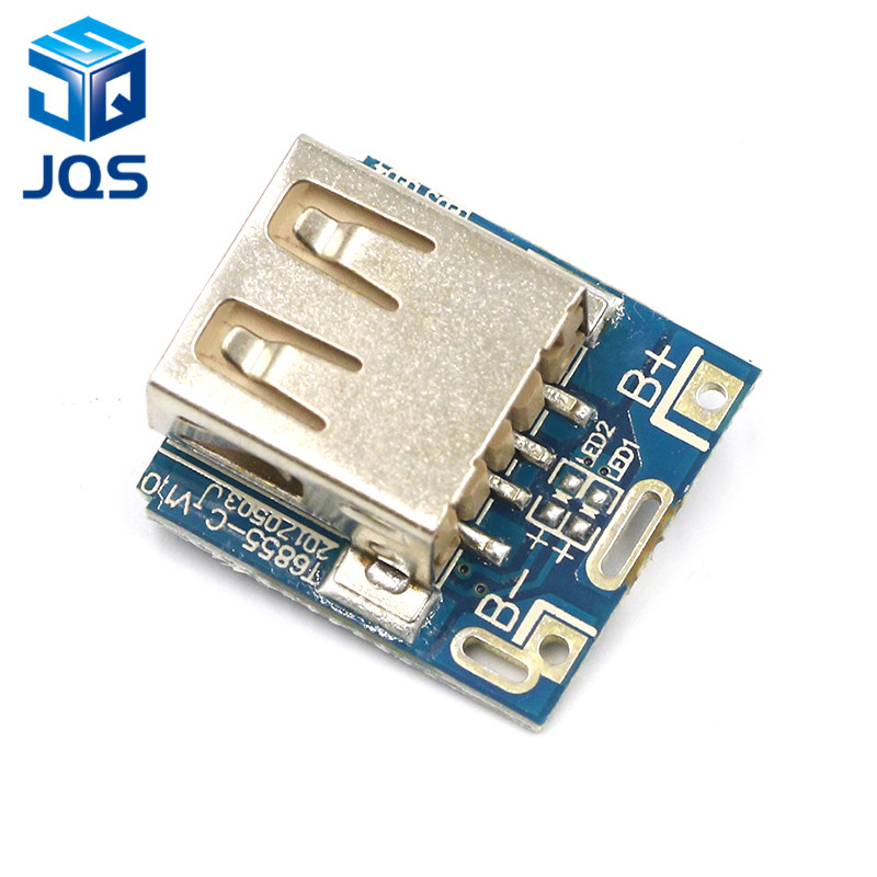 Mini 5V 1A Power Bank Charger Circuit Board Charging Step Up Boost Power Module 1S/2S Case Shell 18650 Lithium Battery DIY Kit