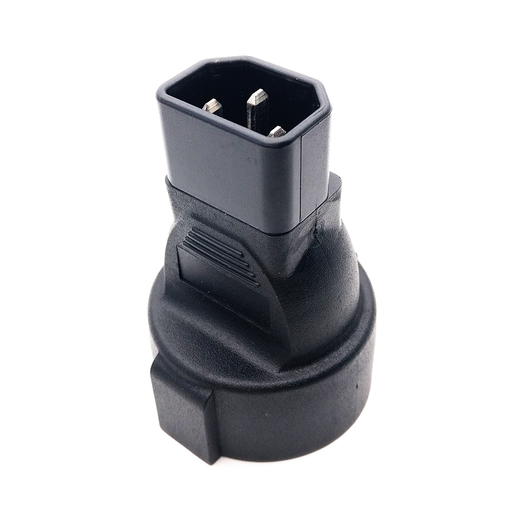 Power Plug Adapter, IEC 320 C14 Male to 3Pin European Female Power Adapter For PDU UPS #WPT604 free shipping iec 320 c14 to saa australia 3 pin female power adapter for pdu ups ac plug converter wpt604 page 9