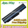 Apexway 6 celdas 4400 mah batería del ordenador portátil para acer aspire one 571 a110 a150 zg5 um08a31 um08a71 um08a72 um08a73 um08b74