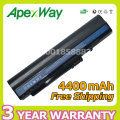 Apexway 6 cell 4400mAh laptop battery for Acer Aspire One 571 A110 A150 ZG5 UM08A31 UM08A72 UM08A71 UM08A73 UM08B74