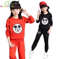 Children Clothing Sets Girls Tracksuits Long Sleeve Cartoon T-Shirts & Pants 2Pcs Sportswear Cotton Sports Suits Outfits H007