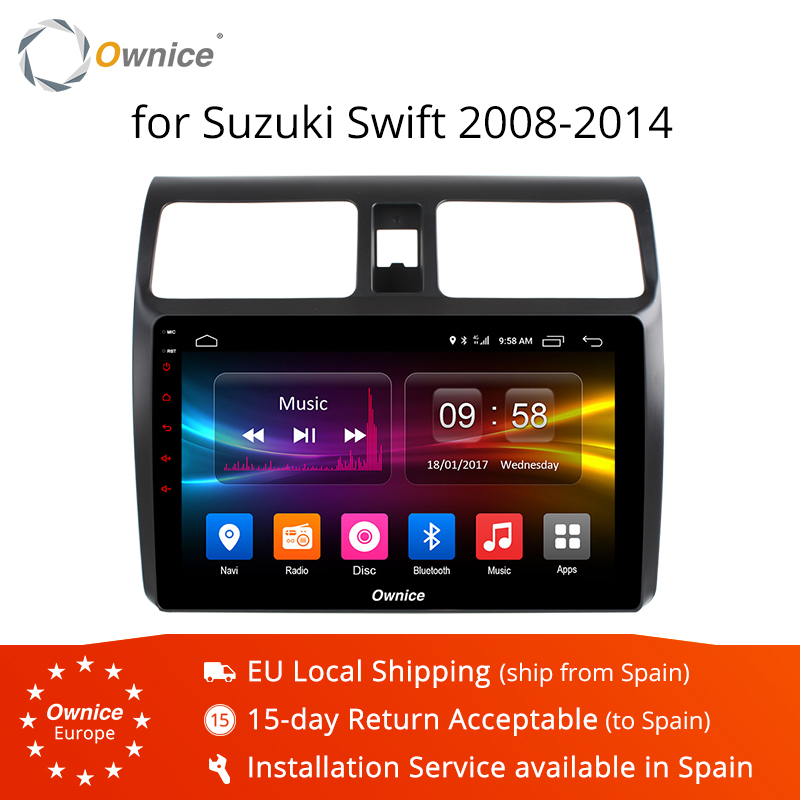 Ownice K1 K2 Octa 8 Core 10.1 Android 8.1 Car DVD Player for Suzuki Swift 2008 2014 gps head units 4G LTE dvr radio stereo