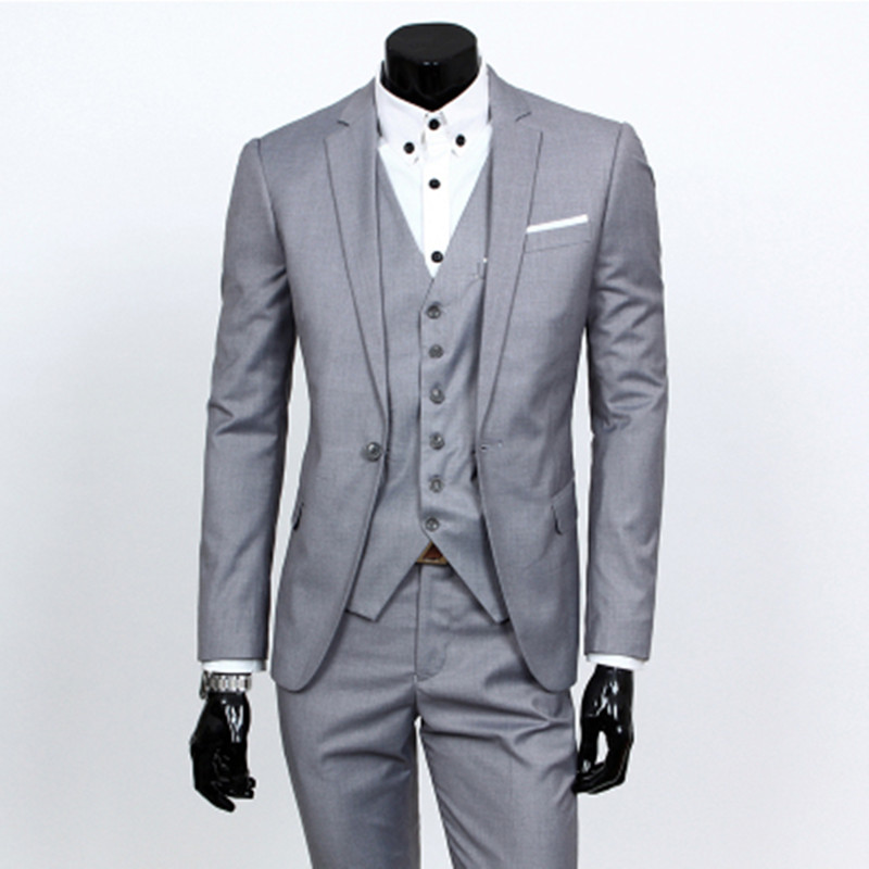 Aliexpress.com : Buy New 2017 Mens Light Grey Suits Jacket Pants ...