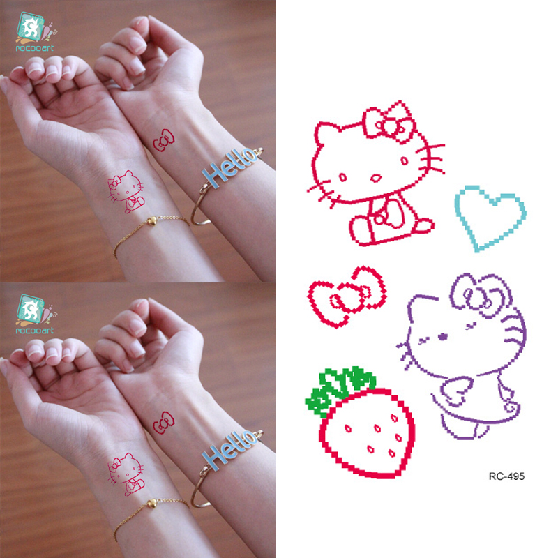 10pcs Waterproof Temporary Tattoos Sleeve Owl Fox Artificial Flowers Tattoo Many Designs Sex Men Beauty Body Art 3d Tatoo 18