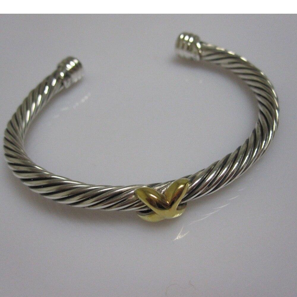 Bijoux en argent Sterling 5mm X Bracelet solide 925 bijoux en argent Sterling femmes Bracelet fin Bracelet cadeaux de noël