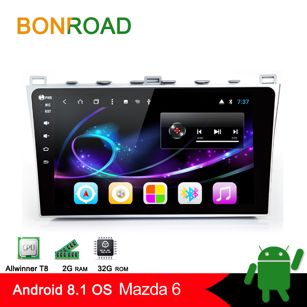 Bonroad Android 8 1 0 Car multimedia player Video Player For Mazda 6 2008 2015 With