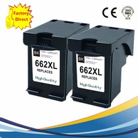 2 Pcs Black Ink Cartridges For HP 662 XL 662XL HP662 HP662XL Deskjet 1015 1515 2515