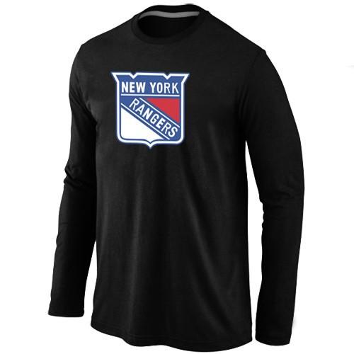 NHL New York Rangers Big & Tall Logo Black Long Sleeve T-Shirt